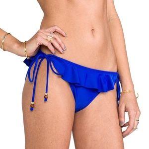 NWT💠Shoshanna Blue Ruffled Side Tie String Bottom